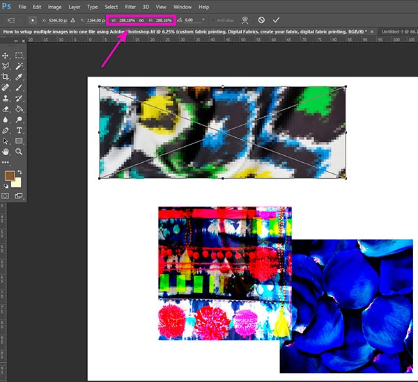 Custom Fabric_Fabric Printing_How to setup multiple images into one file using Adobe Photoshop3