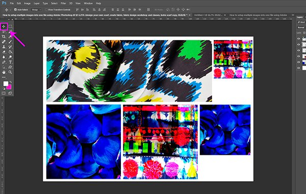 Custom Fabric_Fabric printing_How to setup multiple images into one file using Adobe Photoshop4