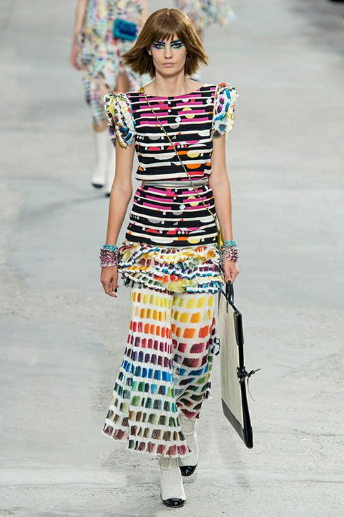 Digital Fabrics-chanel-inspiration-art-rainbow-paint-strokes-design-printing-fashion