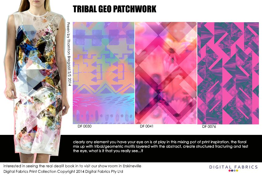 Digital Fabrics_Newsletter_Print Direction_Fashion Print_Textile Printing_Digital Printing_Tribal Geo Patchwork_Tribal Prints_Geometric Prints_Patchwork_Floral