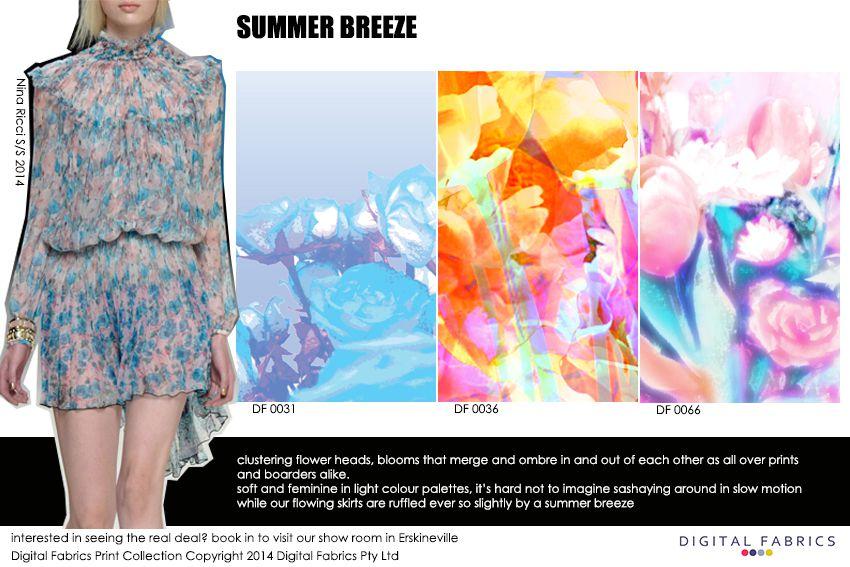 Digital Fabrics_Newsletter_Print Direction_Fashion Print_Textile Printing_Digital Printing_Summer Breeze_Blooms_Florals_Flowers