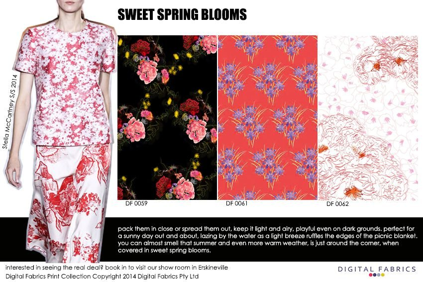 Digital Fabrics_Newsletter_Print Direction_Fashion Print_Textile Printing_Digital Printing_Sweet Spring Blooms_Spring_Blooms_Florals_Flowers