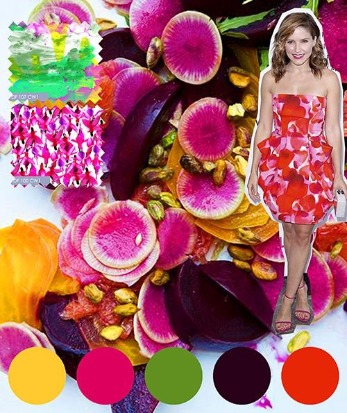 Digital Fabrics_printing_colour_design_inspiration_fuschia_wine_tangerine_green_yellow