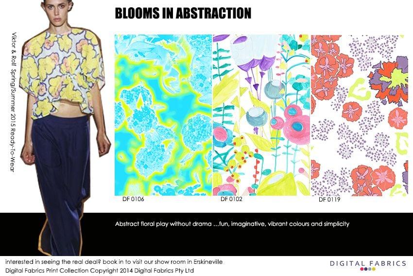 BLOOMS IN ABSTRACTION fashion print_Digital Fabrics_Newsletter_Print Direction_Fashion Print_Textile Printing_Digital Printing