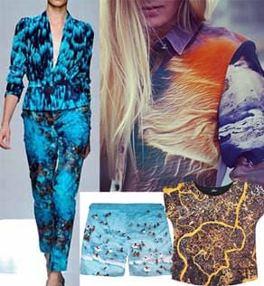 From inspiration to the garment (clockwise from left) Emanuel Ungaro, Sara Phillips, Due, Grey Malin