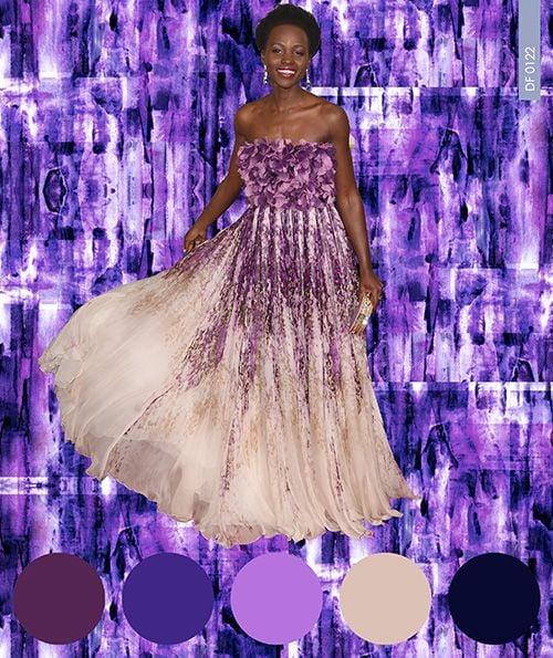 Inspiration_purple_Digital Fabrics_printing_colour_design_inspiration_lupita_goldenglobes_dress_floral