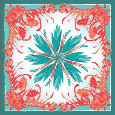Katelyn Phillips, digital fabric printing scarf design competition