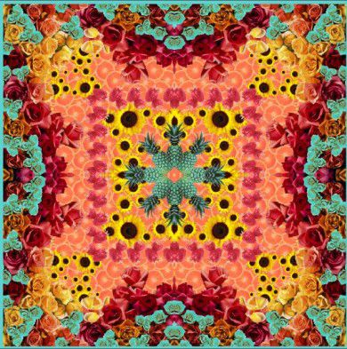 Madison Watson-Hicks, digital scarf design fabric printing