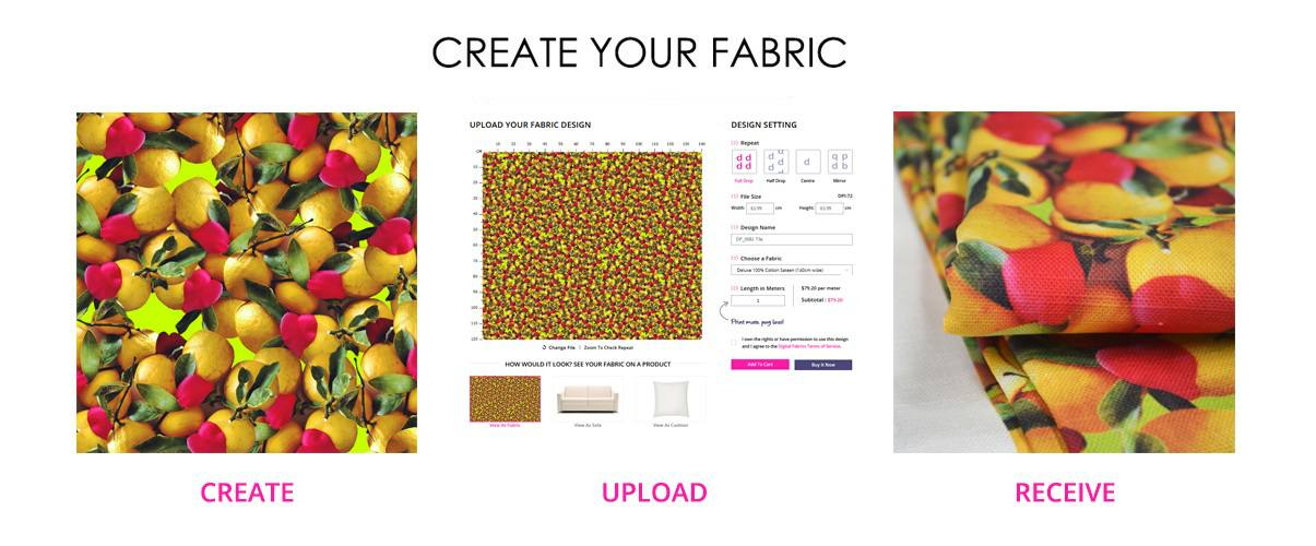 fabric-printing-custom-fabric-print-your-own-fabric-digital-fabrics-design-fabric lemon print