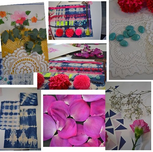 design your own scarf, create fabric, fabric design workshop and classes before design, fabric design