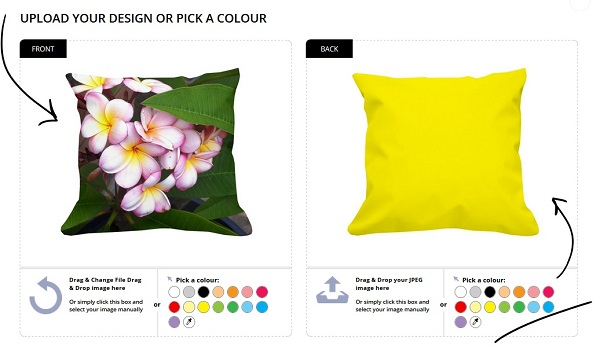 print your own cushion cover
