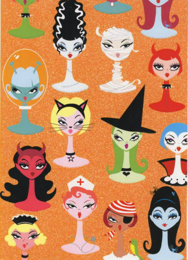 13 halloween prints ideas for fabric digital fabric for Monster themed fabric