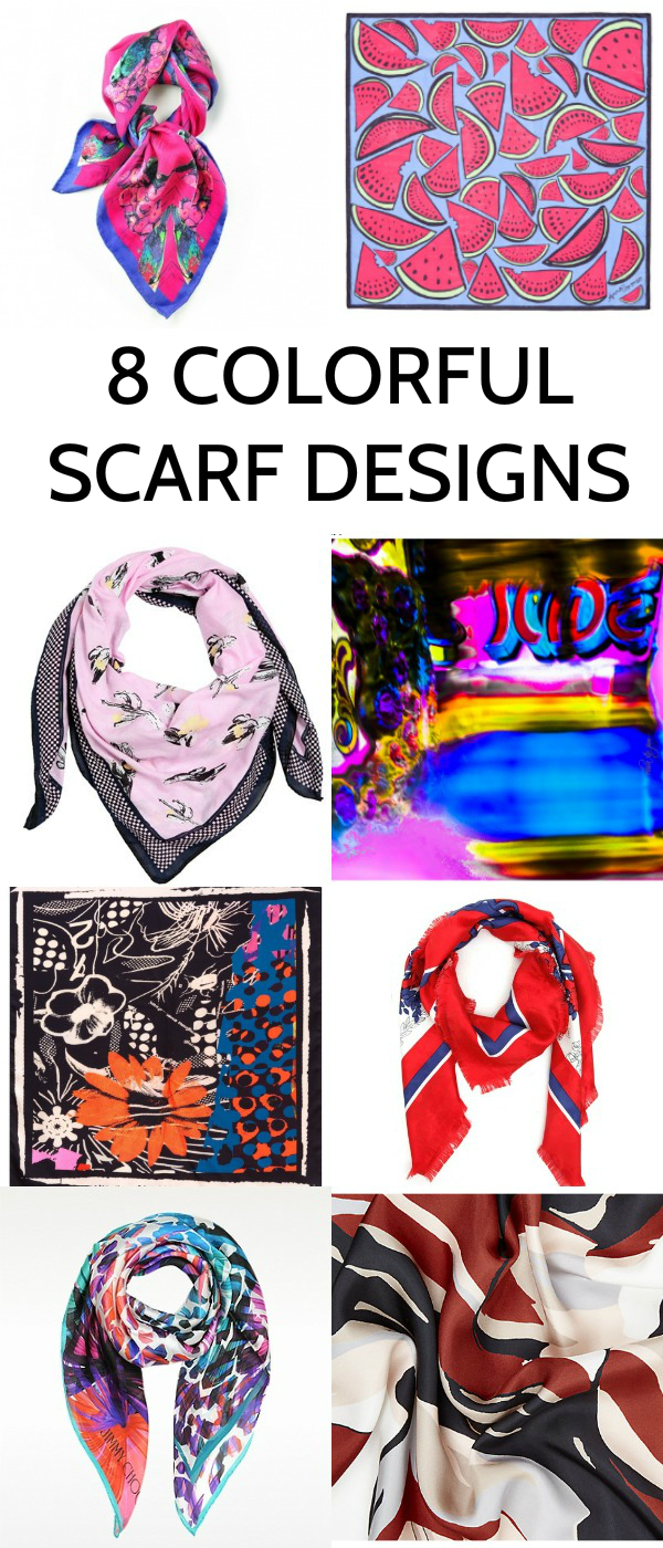 8 colorful scarves design ideas