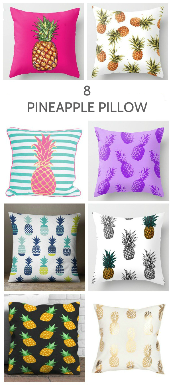 8 pineapple print pillow ideas