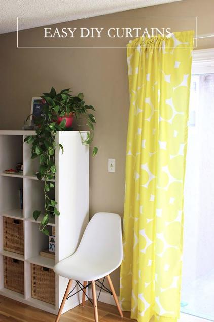 diy curtains with digital fabrics
