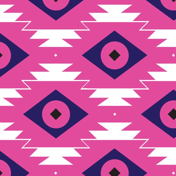 tribal happiness, fabric design, tribal fabric, pink fabric, happy fabric, live colorful, digital fabrics