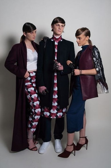 Fabric_printing_designer_nicolegoodman_gxxdman_design_collection_australia_burgandy_pants_mens_womens_dress_shirt