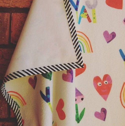 KatyDee_baby_blanket_playful_print_fabric_design_colourful_hearts_rainbow_fleece