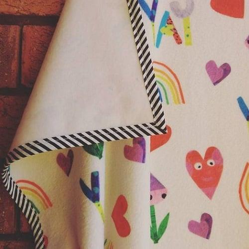 KatyDee_baby_blanket_playful_print_fabric_design_colourful_hearts_rainbow_fleece