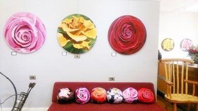 Rose Cushions round cushions custom cushions digital fabrics