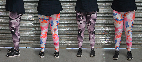 design your own leggings, digital leggings design, lycra fabric printing