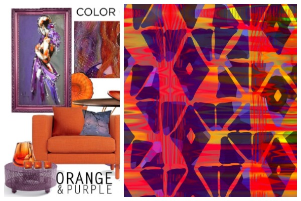 purple and orange fabric digital fabrics