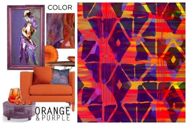 purple and orange fabric digital fabrics