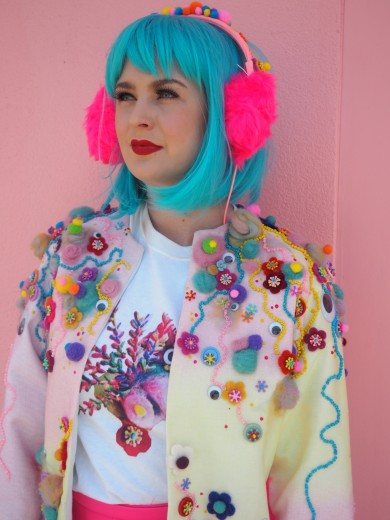student_printing_fashion_art_collection_colour_embellish_embriodery_jacket_quirky_bright