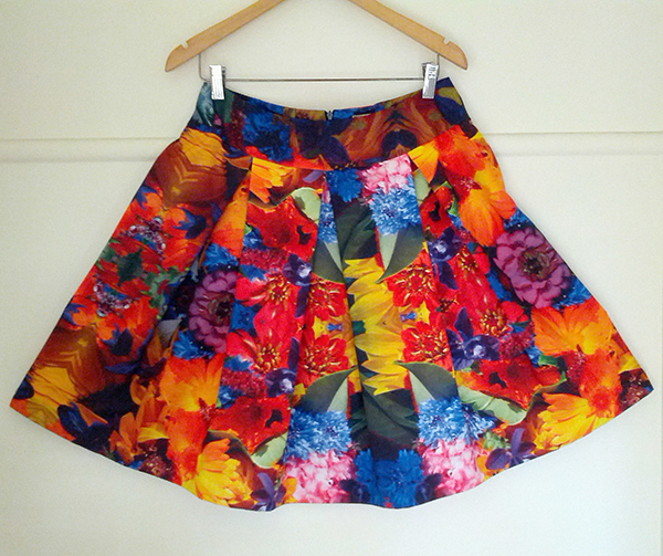 print your own fabric, make your own skirt, fabric printing