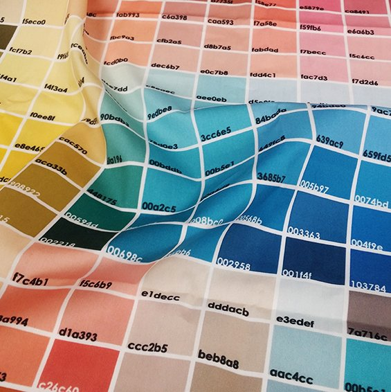 digital fabric printing on demand, digital fabrics, colour chart