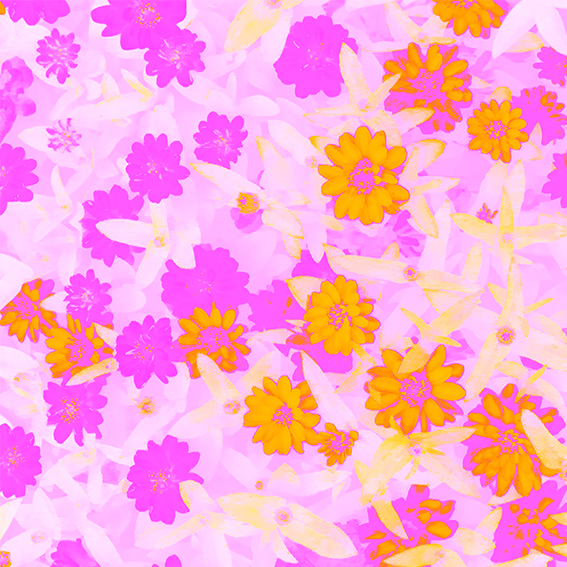 Sunshower_Custom Fabric Printing_Digital Fabrics_Floral Fabric_Colourful Floral Prints