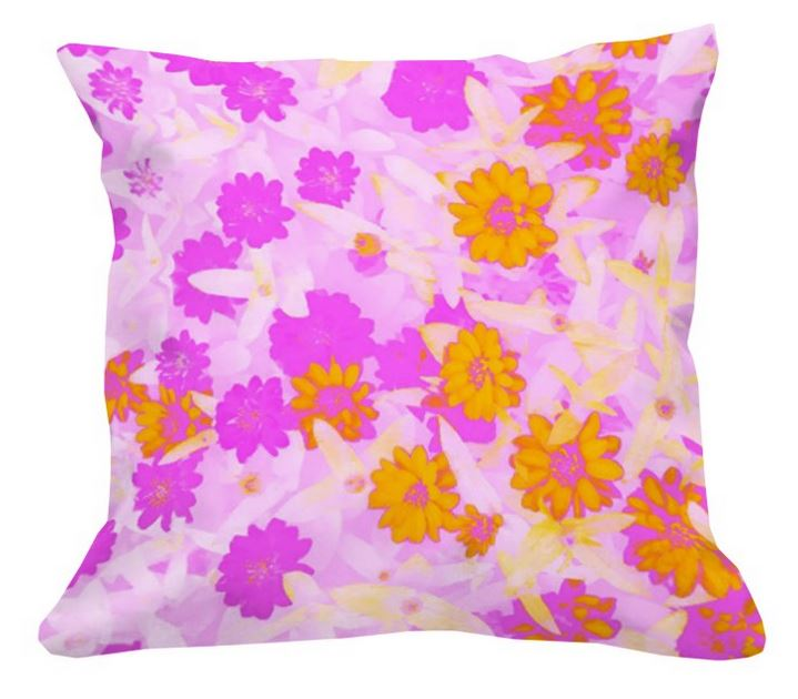 Sunshower_Custom Fabric Printing_Digital Fabrics_Floral Fabric_Colourful Floral Prints_Custom Cushion