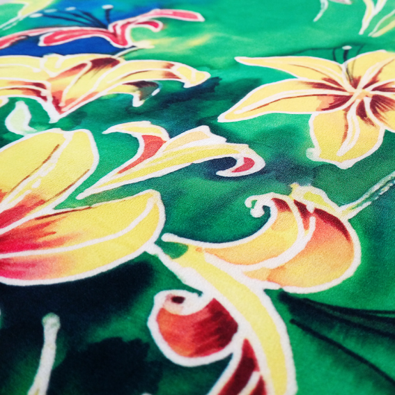 Digital Fabrics_custom fabric printing_tropical floral design_wearable art_watercolour prints_1