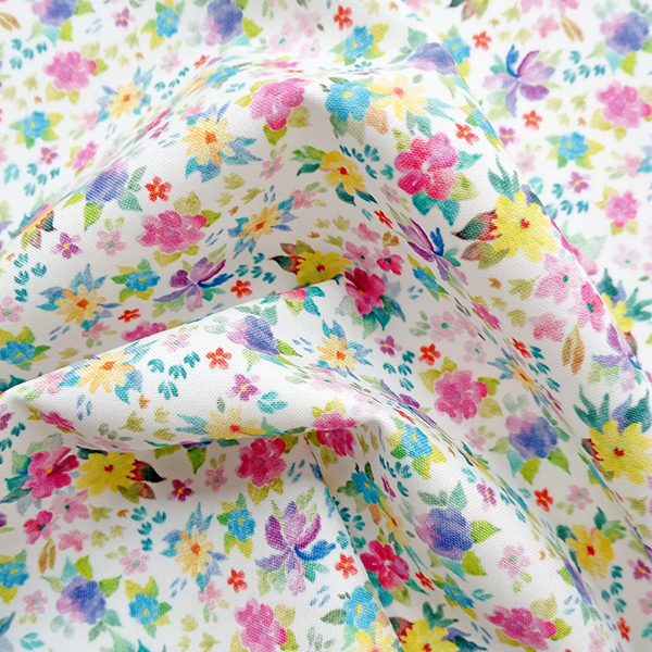 Digital Fabrics_custom fabric printing_hand painted florals_Posy_1