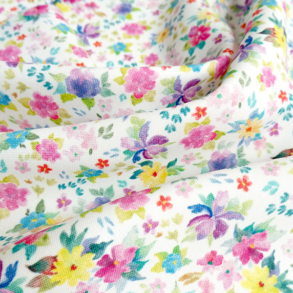Digital Fabrics_custom fabric printing_hand painted florals_Posy_2