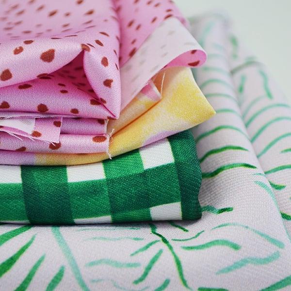 Digital Fabrics custom fabric printing fabric design fashion prints designer fabric_spoon of honey