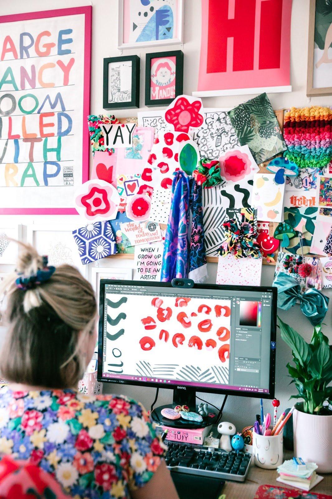 Studio shot - Digital editing of Wild Thing fabric design