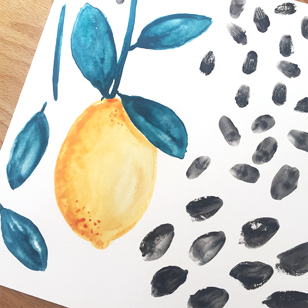 Lemonade handpainted work