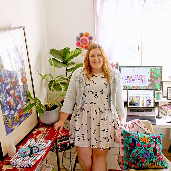 Crystal Kruger in her creative studio