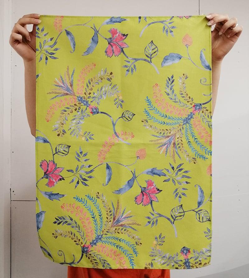 Custom printed and made tea towels