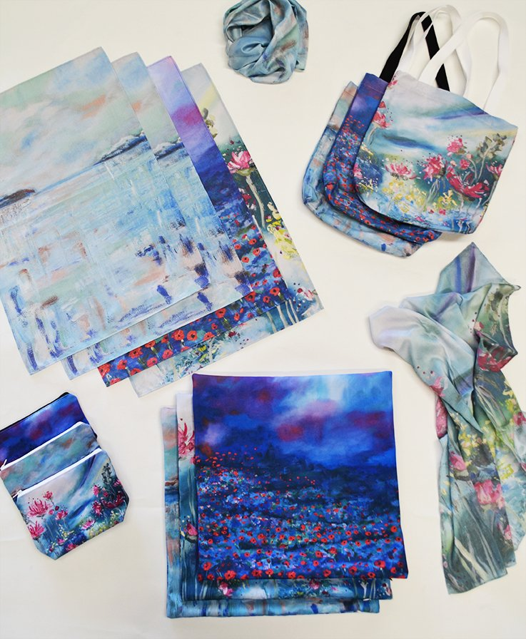 Digital printing and product manufacturing for artist Tanya  Krech